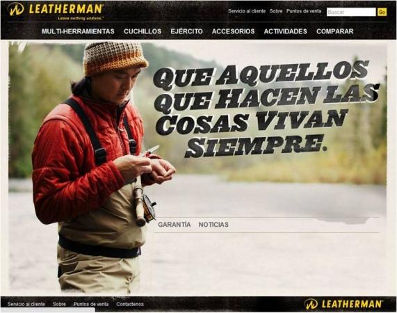 Nueva página web en español de Leatherman