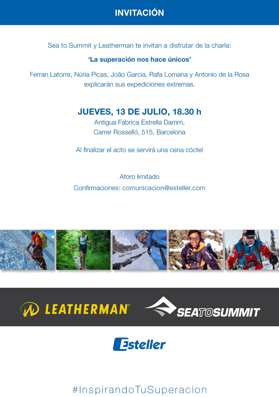 Invitación embajadores Sea to Summit Leatherman 01 | Esteller