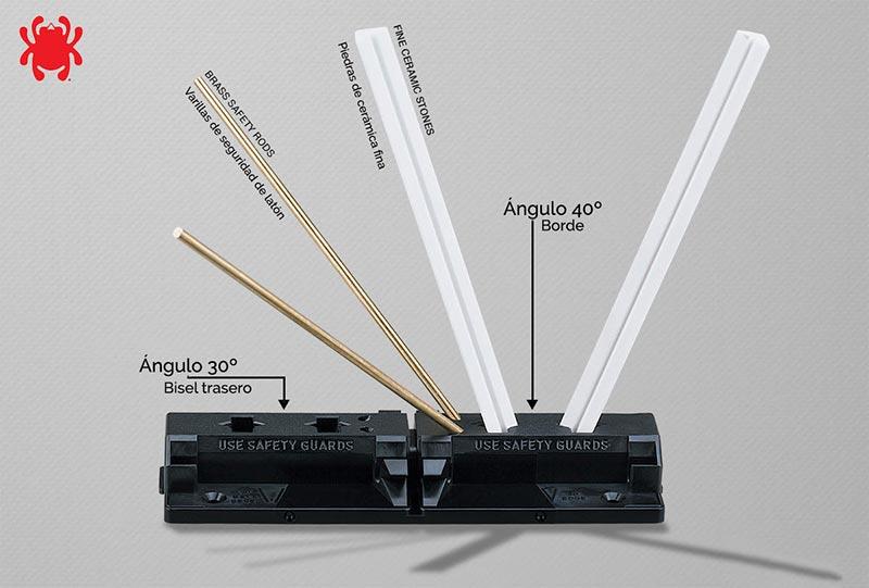 Afilador de navajas y cuchillos Spyderco Tri angle Sharpmaker