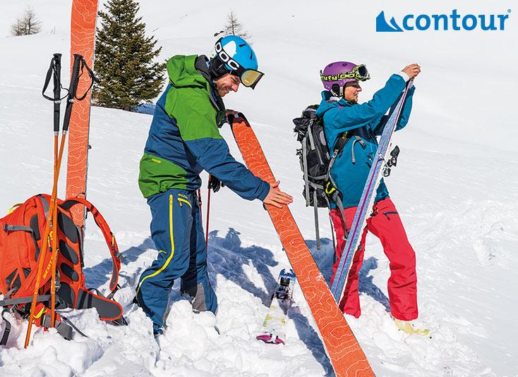 Pieles de foca para esquí de travesía Contour