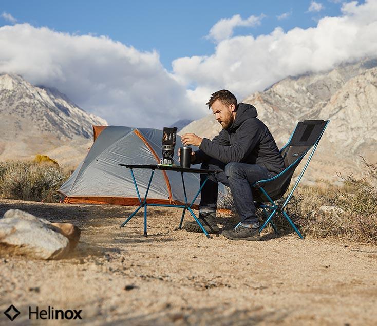 Mesa de camping con sillas Helinox I Esteller