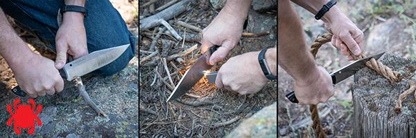 Usos del cuchillo Spyderco Province