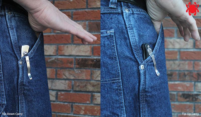 Cómo llevar el clip de bolsillo Spyderco