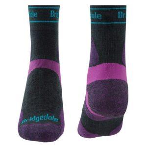 Calcetines trailrunning de Bridgedale para mujer de merino y caña-media